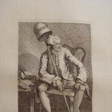 Arte: JOHN WILKES ESQ. GRABADO POR WILLIAM HOGARTH EN 1763. Lote 111991035