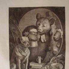 Arte: THE BRUISER C. CHURCHIL DISEÑADO Y GRABADO POR WILLIAM HOGARTH. Lote 111991295