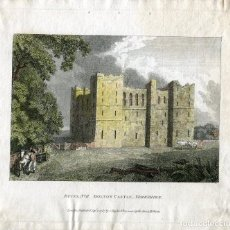 Arte: RUINS Nº II BOLTON CASTLE, YORKSHIRE, PUBLICADO EN 1787 POR C-TAYLOR. Lote 111998155