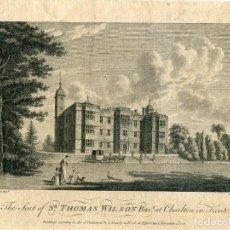 Arte: THE SEAT OF SR. THOMAS WILSON BART. AT CHARLTON IN KENT GRABADO EN 1776POR W: WATTS. Lote 111998627