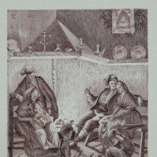 Arte: GRABADO TITULADO EL TIÓ CATALUNYA PRINCIPIOS SIGLO XX. Lote 112074435