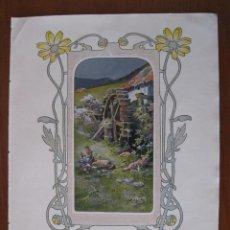 Arte: NIÑA EN EL MOLINO, 1903. ANÓNIMO. Lote 112183267