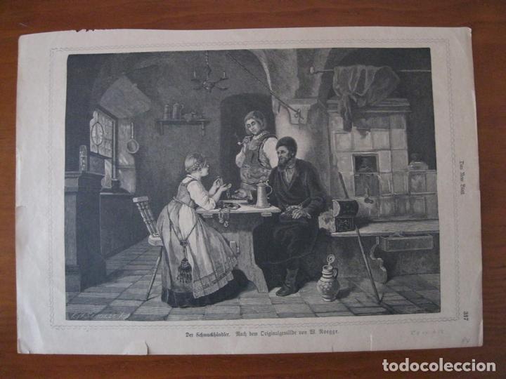EL JOYERO Y SUS JOYAS, 1884. ANÓNIMO (Arte - Grabados - Modernos siglo XIX)