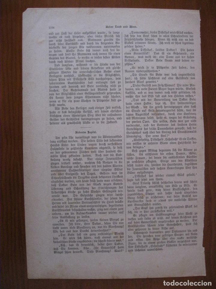 Arte: Lectura de un testamento,1887. Anónimo - Foto 2 - 112183435