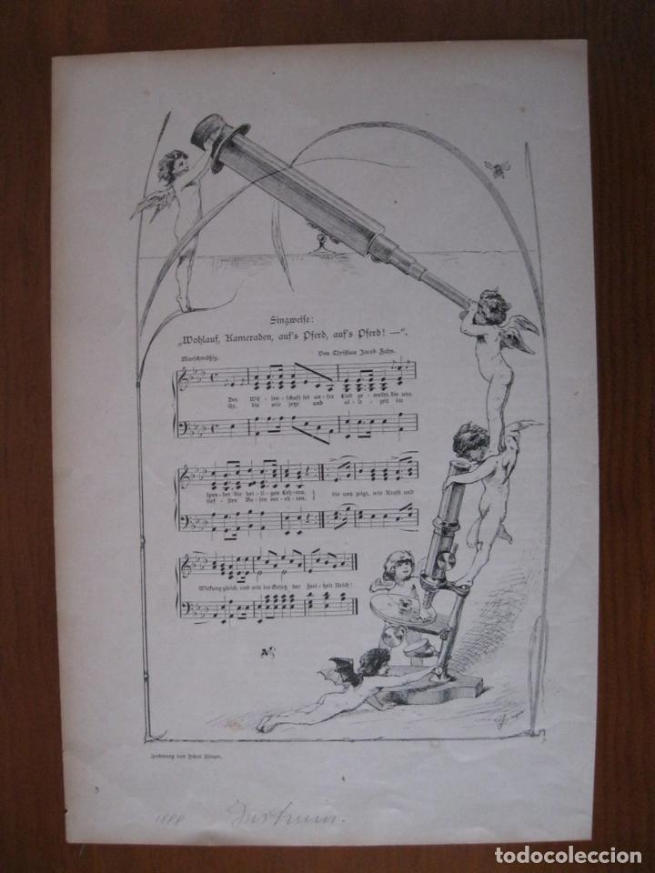 CANCIÓN A LA MADRE NATURALEZA, 1888. ANÓNIMO (Arte - Grabados - Modernos siglo XIX)