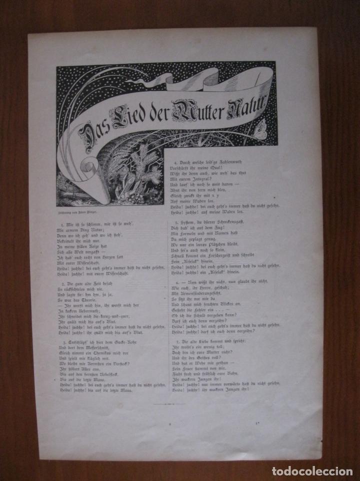 Arte: Canción a la madre naturaleza, 1888. Anónimo - Foto 2 - 112183507