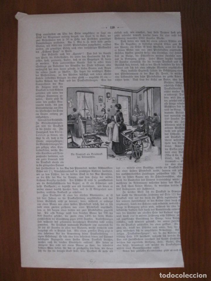 Arte: El taller de ebanistería y de costura, 1891. Anónimo. - Foto 2 - 112183567