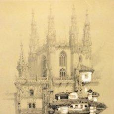 Arte: LA CATEDRAL DE BURGOS EN 1835. LITOGRAFÍA. ACUARELA. D. ROBERTS. ESPAÑA. CIRCA 1835. Lote 112234571