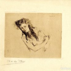 Arte: RICARDO DE LOS RÍOS. ESTUDIO DE MUJER, 1891. Lote 112311323