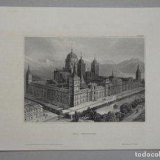 Arte: GRABADO EL ESCORIAL - ORIGINAL - AÑO 1840. Lote 112329355