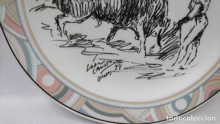 Arte: PLATO DE PORCELANA GRABADO TOROS, LÓPEZ CANITO, BURGOS 94, - Foto 2 - 112345579