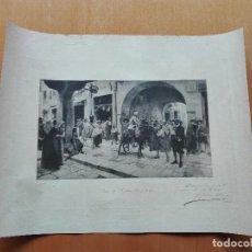 Arte: HELIOGRABADO, PENA DE AZOTES O BORIA AVALL. 1892. DEDICADO Y FIRMADO POR EL AUTOR, F. GALOFRÉ OLLER.. Lote 112436887