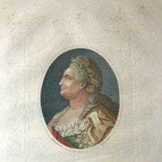 Arte: GRABADO DE CATALINA LA GRANDE, S.XIX DE LA ENCICLOPEDIA LONDINENSE 1826. Lote 112458551