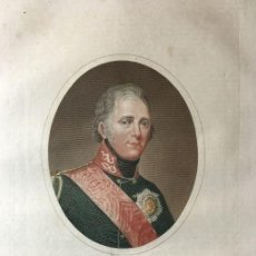 Arte: GRABADO, S.XIX, DE ALEJANDRO PRIMERO, PARA LA ENCICLOPEDIA LONDINENSE 1826. Lote 112461343