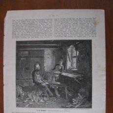 Arte: EN EL TALLER DE CARPINTERÍA, 1903. ANÓNIMO. Lote 112790567