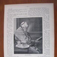 Arte: EL VIEJO MOLINERO LEYENDO, 1906. ANÓNIMO. Lote 112790891