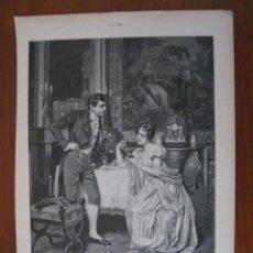Arte: JOVEN ADMIRANDO SU NUEVO COLLAR, 1906. ANÓNIMO. Lote 112794671