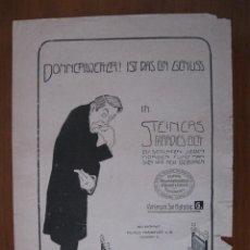 Arte: ANUNCIOS PUBLICITARIOS ALEMANES, 1906. ANÓNIMO. Lote 112794819