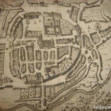 Arte: GRABADO VISTA DE BRAGA , PORTUGAL, ORIGINAL, VAN DER AA, 1707. Lote 112849255