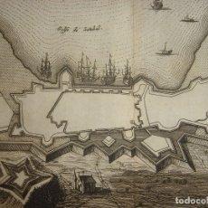 Arte: GRABADO VISTA DE SETÚBAL , PORTUGAL, ORIGINAL, VAN DER AA, 1707. Lote 112853379