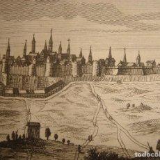 Arte: GRABADO VISTA DE ÉVORA , PORTUGAL, ORIGINAL, VAN DER AA, 1707. Lote 112856227
