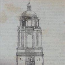 Arte: EXCEPCIONAL GRABADO 1845. ORIGINAL. TORRE CATEDRAL VALLADOLID. 14 X 7 CM. DIFICILISIMO.EL LABERINTO. Lote 112917275