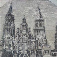 Arte: EXCEPCIONAL GRABADO 1845. ORIGINAL. CATEDRAL DE SANTIAGO. 17 X 15 CM. DIFICILISIMO. EL LABERINTO. Lote 112919431