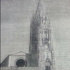Arte: EXCEPCIONAL GRABADO 1845. ORIGINAL. CATEDRAL DE OVIEDO. 25 X 25 CM. DIFICILISIMO. EL LABERINTO. Lote 112919931