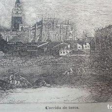 Arte: EXCEPCIONAL GRABADO 1845. ORIGINAL. CORRIDA DE TOROS SEVILLA, 18 X 14 CM. DIFICILISIMO. EL LABERINTO. Lote 112921783