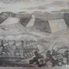 Arte: EXCEPCIONAL GRABADO 1844. ORIGINAL. RENDICION DEL CASTILLO DE FIGUERAS. DIFICILISIMO. EL LABERINTO. Lote 112924447