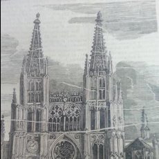 Arte: EXCEPCIONAL GRABADO 1844. ORIGINAL. CATEDRAL DE BURGOS. 13 X 18 CM. DIFICILISIMO. EL LABERINTO. Lote 112924591