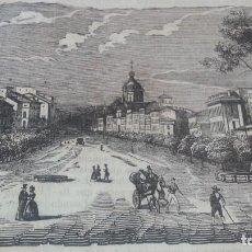 Arte: EXCEPCIONAL GRABADO 1845. ORIGINAL. VISTA DE MADRID. 25 X 12 CM. DIFICILISIMO. EL LABERINTO. Lote 151587044