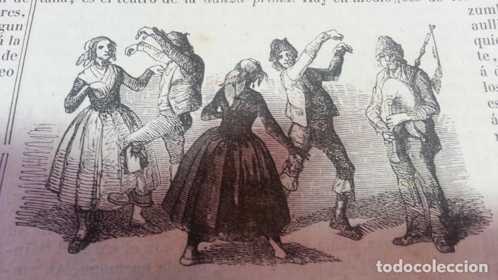 EXCEPCIONAL GRABADO 1844. ORIGINAL. BAILES REGIONALES. DIFICILISIMO. EL LABERINTO (Arte - Grabados - Modernos siglo XIX)