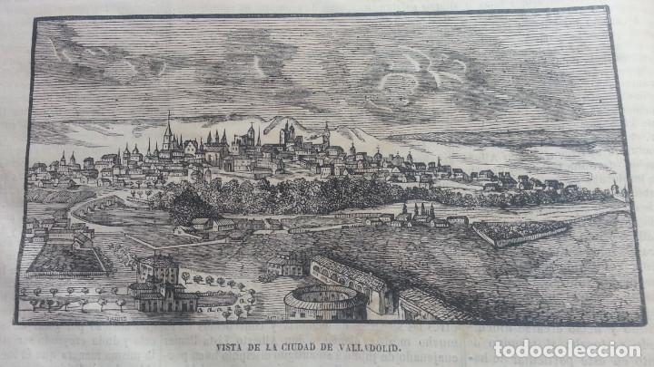 EXCEPCIONAL GRABADO 1845. ORIGINAL. CIUDAD DE VALLADOLID. 25 X 12 CM. DIFICILISIMO. EL LABERINTO (Arte - Grabados - Modernos siglo XIX)