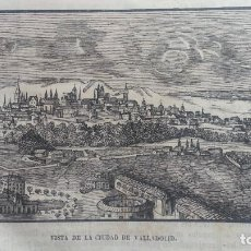Arte: EXCEPCIONAL GRABADO 1845. ORIGINAL. CIUDAD DE VALLADOLID. 25 X 12 CM. DIFICILISIMO. EL LABERINTO. Lote 112936003