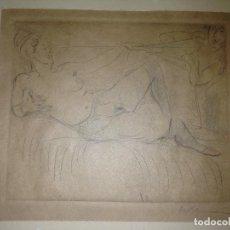 Arte: GRABADO AGUAFUERTE EROTICO PRINCIPIOS XX. Lote 113032947