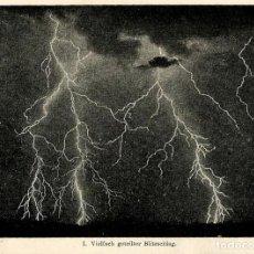 Arte: RAYOS METEOROLOGÍA ELECTRICIDAD ESTÁTICA TORMENTAS ELÉCTRICAS CIENCIAS NATURALES . Lote 113057711