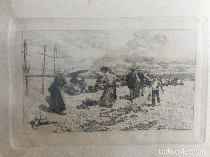 aguafuerte de tomás campuzano , escena costera - Comprar Grabados ...