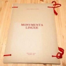 Arte: CARÑLOS GAVIÑO DE FRANCHY - MONUMENTA LINGUAE - TEXTO DE JUNA HIDALGO - 1987. Lote 113247859