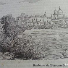 Arte: EXCEPCIONAL GRABADO 1845. ORIGINAL. SANLUCAR DE BARRAMEDA. CADIZ. DIFICILISIMO. EL LABERINTO. Lote 113537047