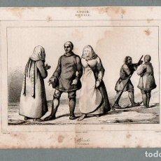 Arte: RUSIA - OSTIACOS - GRABADO VERNIER LANGLOIS. Lote 113586175
