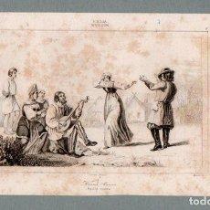 Arte: RUSIA - DANZAS - GRABADO LEMAITRE VERNIER MONNIN. Lote 113586451