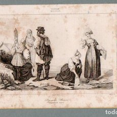 Arte: RUSIA - CAMPESINOS - GRABADO LEMAITRE VERNIER MONNIN. Lote 113586487