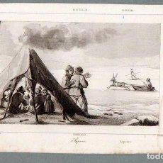 Arte: RUSIA - LAPONES - GRABADO LEMAITRE VERNIER CHAILLOT. Lote 113586839