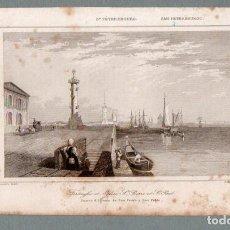 Arte: SAN PETERSBURGO - FUERTE E IGLESIA DE S. PEDRO Y S. PABLO - GRABADO LEMAITRE CHOLET. Lote 113587211