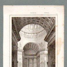 Arte: RUSIA - INTERIOR DE LA IGLESIA DE KASAN - GRABADO LEMAITRE DUMOUZA. Lote 113588039