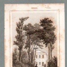 Arte: RUSIA - CASA DE PEDRO I EN EL JARDÍN DE VERANO - GRABADO LEMAITRE DANVIN CHOLET. Lote 113588079