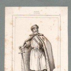 Arte: RUSIA - CABALLERO PORTA ESPADA - GRABADO LEMAITRE VERNIER PIGEOT. Lote 113590087