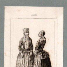 Arte: RUSIA - MUJERES MORDVINAS - GRABADO LEMAITRE VERNIER CHAILLOT. Lote 113590207
