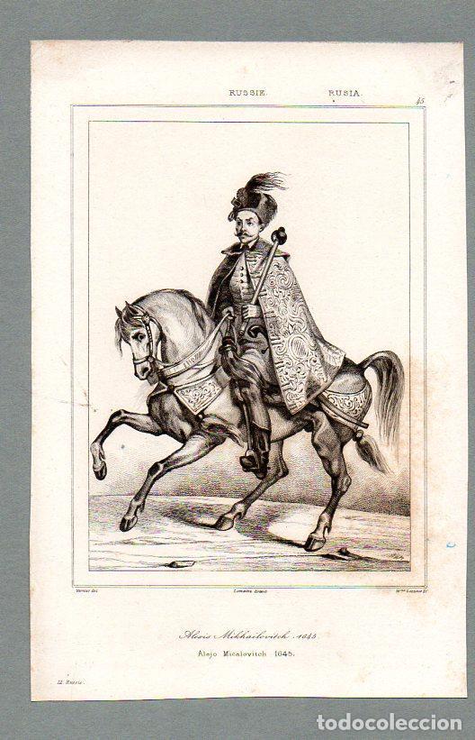 RUSIA - ALEXIS MIJAILOVITCH 1645 - GRABADO LEMAITRE VERNIER LESUEUR (Arte - Grabados - Modernos siglo XIX)